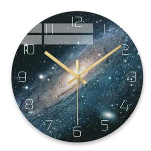 Creative Wall Clock Sala de estar Hogar Mute Reloj Personalidad Moda Nórdico Moderno Sencillez Reloj de pared de vidrio Envío gratis