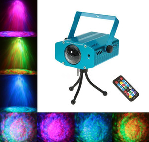 Lightme Projektor Laser Outdoor 3 Watt RGB LED Wasser Welligkeit Projektor Club Bühnenlicht Party Dj Disco Lichter Urlaub Bühnenlampe