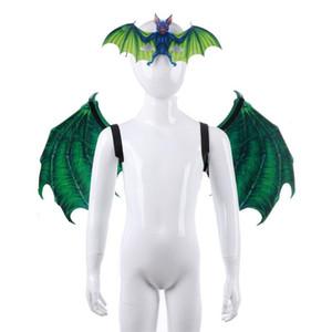 Vampiro Kit de dos colores PU Espuma Bat Máscara Ala traje traje de adultos y niños Party Supplies 40sz2 E1