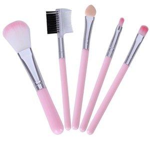 5Pcs set Pink MakeUp Brushes For Beginner Tools Kit Eye Shadow Eyebrow Eyeliner Eyelash Lip Brush Makeup Brushes Tools