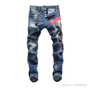 Mens Designer Pants New Style Casual Skinny Sweatpants Mens Designer Jeans Drop Crotch Jogging Biker Denim mens slim fit jeans