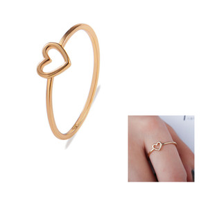Women Band Ring Hollow Heart Ring For Couple Wedding Promise Infinity Eternity Love Jewelry Boho Anillos Mujer BFF Gifts
