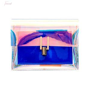 Fashion Women Shoulder Bag Laser Transparent Cross Body Bags Korean Style Messenger Pvc Waterproof Beach Bag A25