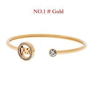 Mode strass MlCHAEL K Designer Bracelet manchette ouverte pour les femmes Bracelet pour femmes Bijoux de luxe réglable Bracelets de mariage