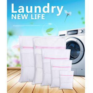 Laundry Bags S M L Clothes Washing Machine 3 Sizes Bra Aid Lingerie Mesh Net Wash Bag Pouch Basket
