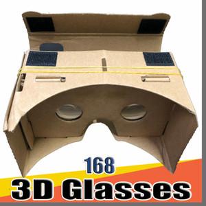 168 gafas 3D DHL Teléfono VR Lentes de bricolaje cartón Google Mobile Virtual Reality no oficial de cartón VR Kit de herramientas de 3D Glasses CCA1785 B-XY