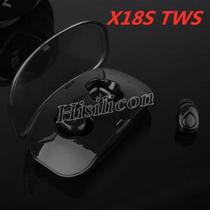 Original X18s TWS Sport drahtlose Kopfhörer Bluetooth V5.0 mit Knopf-Steuerung Ladebox für Iphone X Samsung S10 Huawei PK X8S