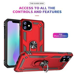 New Ring Car Phone Holder Kickstand Case Magnetic Cellphone Cover ant-drop for iPhone 11pro max X XR XS 7 8 Plus 6 6s protective phone case