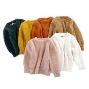 Bambino inverno vestiti ragazze pelliccia pelliccia in pile cappotto maglioni ragazzi pullover cardigan moda tuta sportiva per bambini outwear bambino manica lunga manica manica top D6286