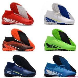 NEW mens soccer shoes Mercurial Superfly 7 VII 360 Elite TF soccer cleats CR7 Ronaldo Neymar NJR football boots high ankle scarpe