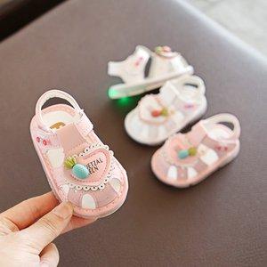 Bebek Sandal 2020 Aşk Kız Baotou Bebek Sandalet 0-1-2 Yaşında Sandalet
