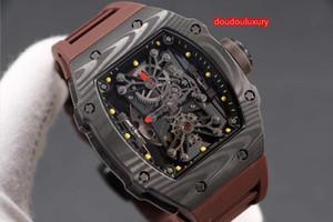 relógios finos dos homens de casos de fibra de carbono de alta qualidade preto popular, caso barril relógio vinho quente relógio mecânico automático elegante frete grátis