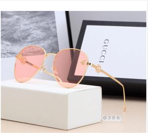 2018 Nova marca de alta qualidade designer de abelha pouco luxo mulheres óculos de sol mulheres óculos de sol óculos de sol elíptico com caixa