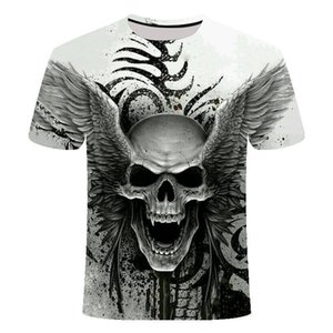 mensskull fashion short sleeve T-shirt 3D men