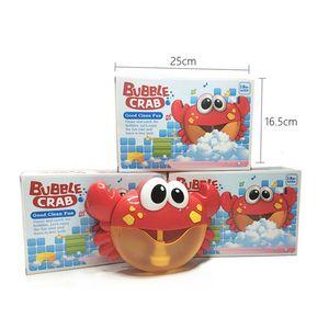 2018 recién llegado Bubble Crabs Baby Bath Toy Funny Bath Bubble Maker Piscina Piscina Bañera Máquina de jabón Juguetes para niños Kids C5635
