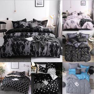 США Размер постельного белья пододеяльник 3 Piece Set Soft Удобный перо Leopard Одеяло Обложка наволочки Набор Снова в школу номер Queen King Size