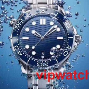 Top LuxuxMens Berufs 300 m James Bond 007 Blau Dial Automatik Uhr Herrenuhren Mechanische Uhren