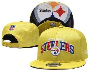Vente en gros PittsburghSteelers Chapeaux Des centaines Strap Retour Bee Hommes Femmes os Snapback Hat réglable panneau Casquette de base-ball Chapeaux