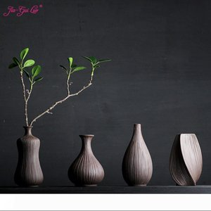 JIA-GUI LUO Ceramic vases Home Desk Accessories Dried flowers and floral decorative containers Creative display Pottery