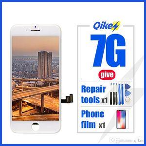 Venta al por menor dar herramientas de reparación película pantalla LCD para iPhone 7 reemplazo de pantalla táctil para iPhone 7 sin píxeles muertos herramientas de vidrio templado TPU