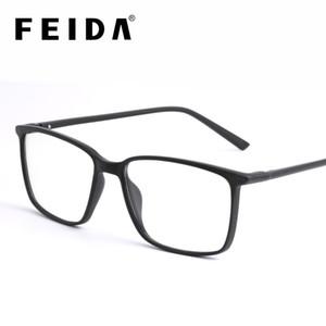Erkekler Retro Erkekler Karşıtı Blue Ray Gözlük T200428 için gözlükler Temizle Göz Cam Çerçeveler Engelleme FEIDA Kare Bilgisayar Gözlük Karşıtı Mavi Işık