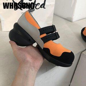 Осень Женская обувь Девушки платформы Обувь Женщина Мелкая Женский Soft Black Ladies Fashion Mary Jane 2020