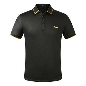 Дизайнерские мужские рубашки Поло Summer Дорогих Polos для мужчин Soft Футболка Полосатых вышивок Марка Casual Mens Твердой одежда M-3XL2