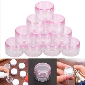 10 Teile / satz Kunststoff Kosmetiktopf Glas Kosmetische Probe Leeren Container Reise Nachfüllbar Kleine Verpackungsflaschen für Creme Öle Lotion