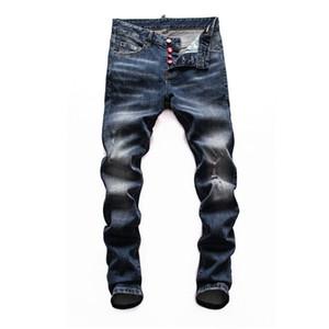 2020 pantalones de diseñadores de lujo de los hombres apretados coche diesel cuadrados clásicos pantalones vaqueros de los hombres del diseñador para los hombres de color púrpura jeans de marca