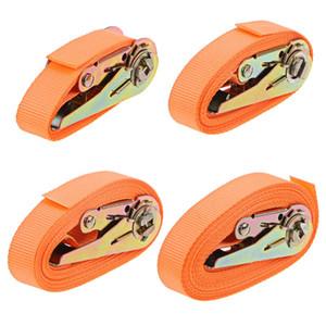 Accesorios Interior cintas tensoras Porable Heavy Duty Amarre de la carretera correa de equipaje Trinca fuerte trinquete correa del cinturón con hebilla de metal