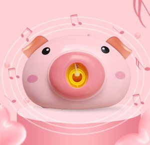 Electric Camera Pig Shaped Baby Bubble Machine With Light Music Outdoor Automatic Bubble Maker Blower Bath Toys For Children Gifts Popular