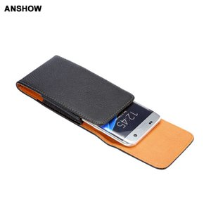 Vertical Hip Leechee Leather For Galaxy S8 S7 Edge Cases Holster Buckle Flip PU Pouch Belt Purse Clip Belt Cover 40PCS