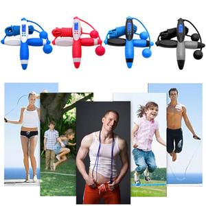 Exerciser Ausrüstungen Fitnesstraining Springseil mit Digital-Kalorien widersprechen Cordless Springseil für Erwachsene Kinder