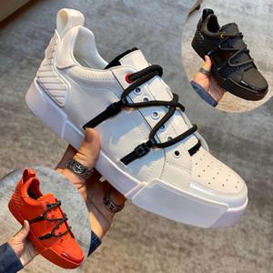 DHL Livraison gratuite 20SS New Mens Designer PORTOFINO sneakers de design de luxe hommes en cuir de veau ET CUIR VERNI avec la boîte