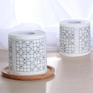 1 Rollo 2 capas número de Pin divertido Sudoku Impreso WC Baño divertido suave del papel higiénico del papel higiénico de papel higiénico Suministros regalo
