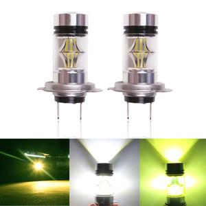 2 STÜCKE Auto H7 LED Nebel LED Licht 20LED 2835 100 Watt Fehlerfrei DRL Auto Fahren Lauflicht Nebelscheinwerfer Frontscheinwerfer 12 V