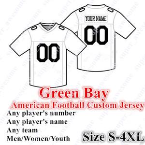 4XL Özel Green Bay Futbol Forması 12 Rodgers 33 Jones 17 Adams 83 Valdes-Scantling 13 Lazd 55 Smith 50 Martinez 20 King 4 Favre Driver