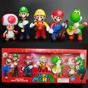 Super Mario Bros Bowser Koopa Luigi Yoshi Mario Car Toad Peach Principessa Odyssey PVC di azione figura modello Dolls Toys