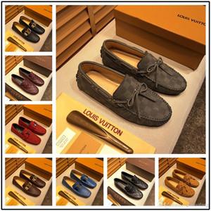Neu! Modell Marke Männer Kleid Schuhe Red Bottom Loafers Luxus Party Hochzeit Schuhe Designer SCHWARZ Echt LEDER Wildleder Kleid Schuhe Herren Slip