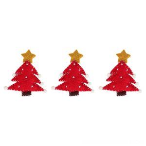 3 Pcs Small Decorations Wool Felt Christmas Tree Pentagram Shape Pendants Ornaments Xmas DIY Christmas Decorations Festive & Party Supplies