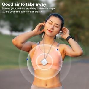 Purificador de ar USB portátil Colar Wearable pessoal Negativo ionizador Anion Air Cleaner Air Freshener 180 mAh