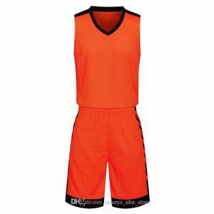 Conjuntos de descuento barato hombres baloncesto de formación con pantalones cortos Uniformes camisetas de baloncesto reversible para que el hogar y kits de mirar hacia otro lado 44-13 Deportes