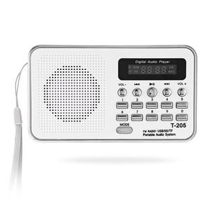 Portable Mini FM Radio Haut-Parleur HiFi Carte Numérique Stéréo Multimédia MP3 Lecteur de Musique Haut Parleur Camping Hiki Sport T-205 Livraison Gratuite BA