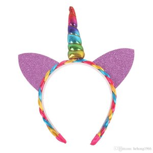 Originality Children Unicorn Headband Cat Ears Hair Band Multicolor Girls Head Band Hairwear Kid Present Party Dance Performance 5qy C R