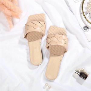 Parigi maglia Womens Slipper Estate Sandali Beach diapositive pantofole ragazze Infradito Comfort sexy vintage ricamato floreale