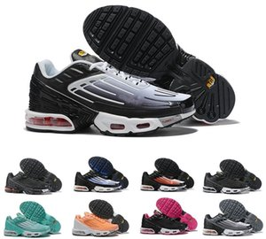 2020 Nike Air max TN plus 3 Hommes Hommes récent TN Mercurial Airs Plus III 3 tn Triple Noir Gris Courir chaussures des chaussures, des TN Baskets sport Chaussures de sport 36-45