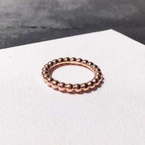 Mode-Stil Zubehör Simple-Stil Rose Gold Silber Kupfer Glatte Full Circle wulstiger Ring für die Frau