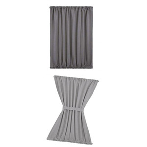 2x Front Blackout French Door Curtain Panel 137x102cm Window Coverings