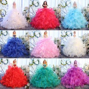 neues 2019 Hochzeit Barbie Super große handgemachte Dekoration Dance Art School Girl Puppe Geschenk-Spielzeug-Set Batch