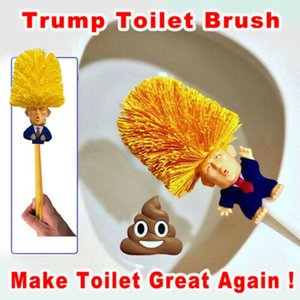 Festival Donald Trump Tuvalet Fırçası Gag Siyasi Ana Komik Gag Hediye Cyber Pazartesi Yap Tuvalet Büyük Yine Komutanı olarak Bok